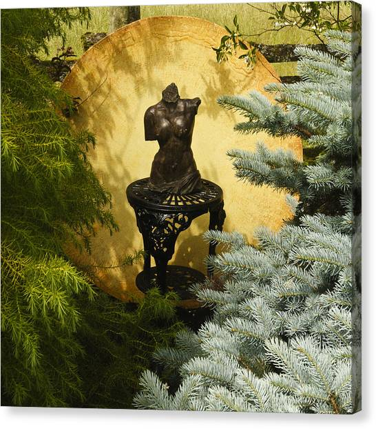 Yellow And Bronze Canvas Print