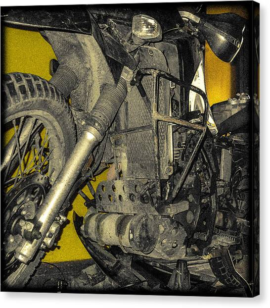 Yellow And Metal Canvas Print