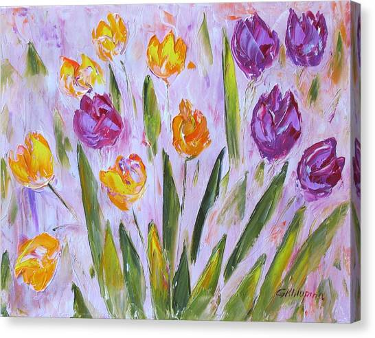 Yellow And Purple Canvas Print