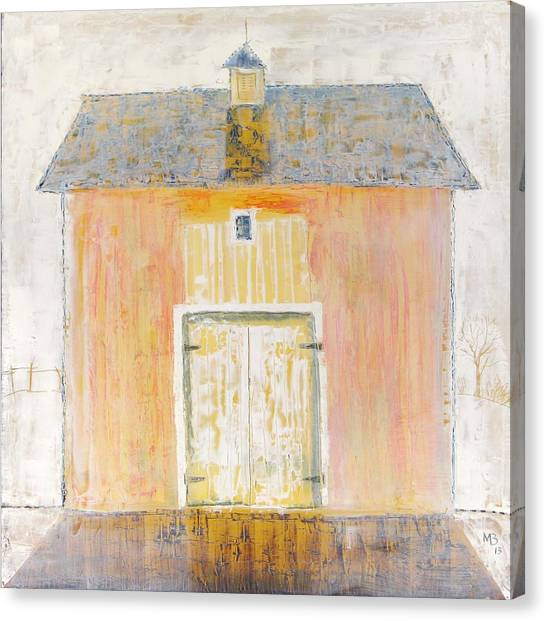 Yellow Barn Canvas Print