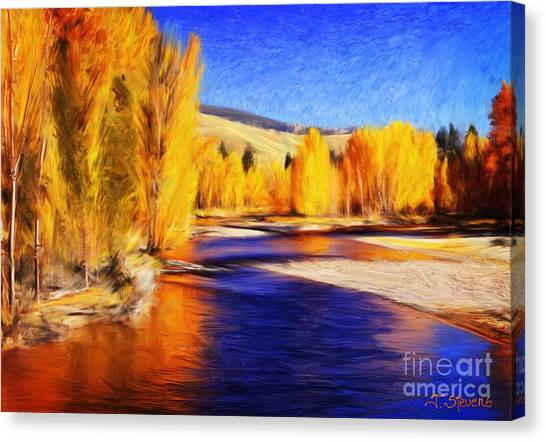 Yellow Bend In The River II Canvas Print