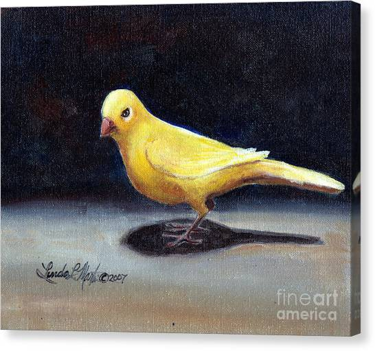 Yellow Bird Canvas Print