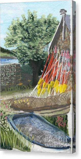 Yellow Buoys Canvas Print