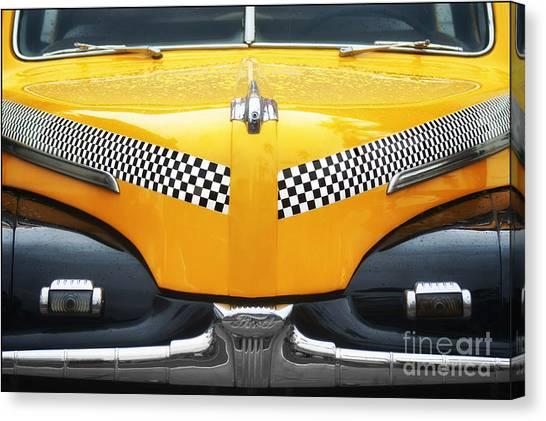 Yellow Cab - 1 Canvas Print by Nikolyn McDonald