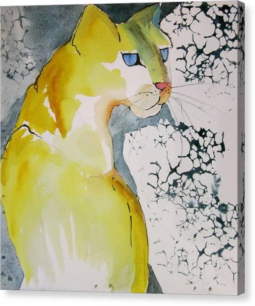 Canvas Print - Yellow Cat by Jane Ferguson