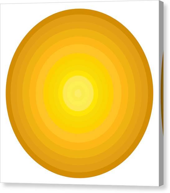 Xxl Canvas Print - Yellow Circles by Frank Tschakert