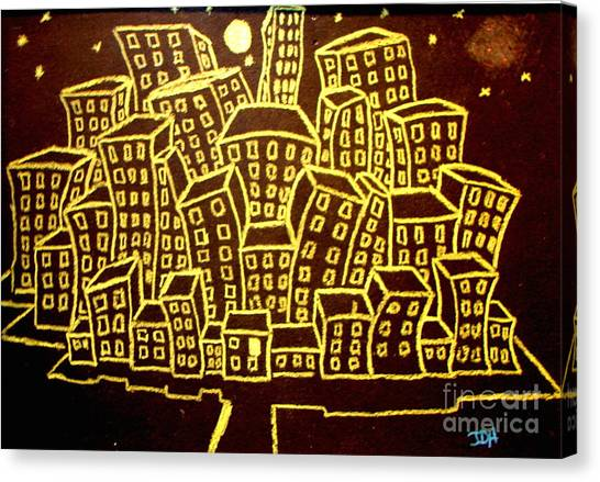 Yellow City Or City Of Gold Canvas Print