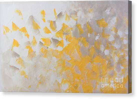 Yellow Cloud Canvas Print