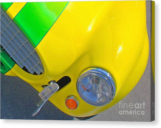 Yellow Cobra Canvas Print by Hot Rod Pics