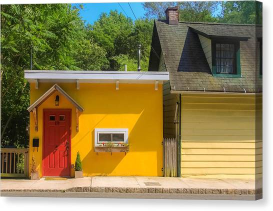 Yellow Cottage Canvas Print