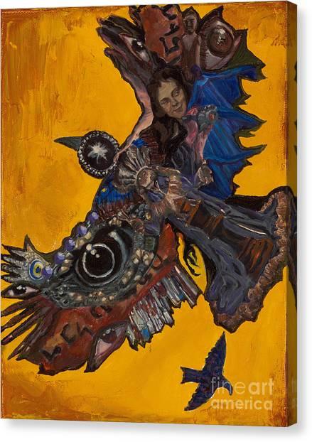 Yellow Crow Canvas Print