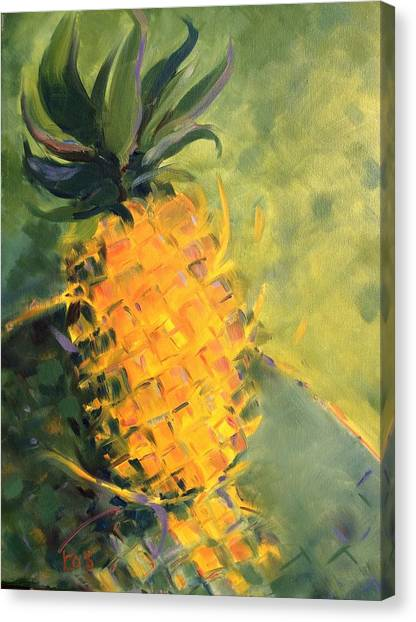 Yellow Dancing On Green Canvas Print
