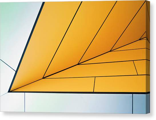 Grid Canvas Print - Yellow Dart by Linda Wride