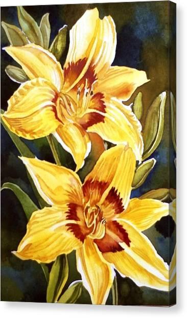 Yellow Daylilies Canvas Print