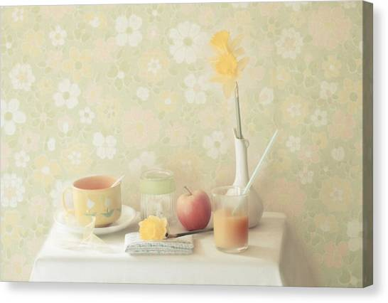Daffodils Canvas Print - Yellow by Delphine Devos