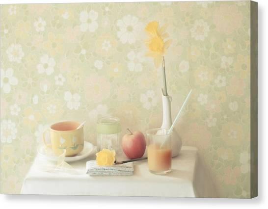 Daffodils Canvas Print - Yellow by Delphine Devos