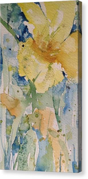 Yellow Flower Study Canvas Print