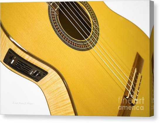 Yellow Guitar Canvas Print