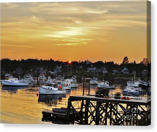 Yellow Harbor Canvas Print