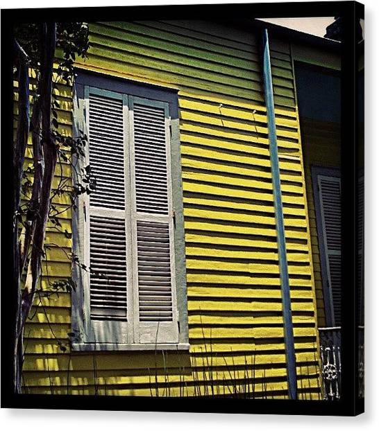 Color Contrast Canvas Print - Yellow House New Orleans by Glen Abbott