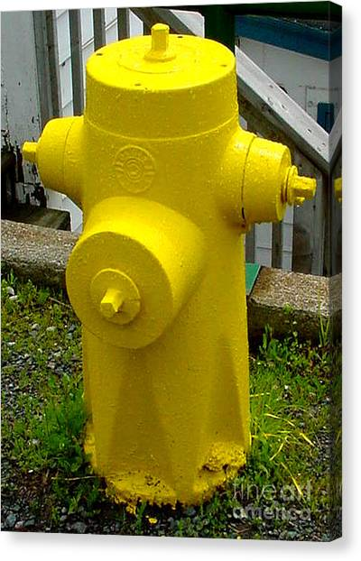 Yellow Hydrant Canvas Print