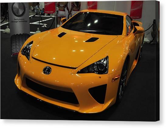Yellow Lexus Canvas Print