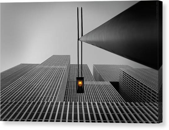 Modern Architecture Canvas Print - Yellow Light by Wim Schuurmans