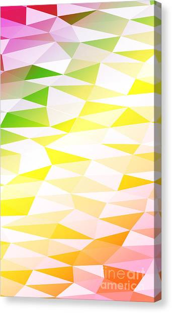 Money Canvas Print - Yellow, Orange, Pink, Multicolor by Mademoiselle De Erotic