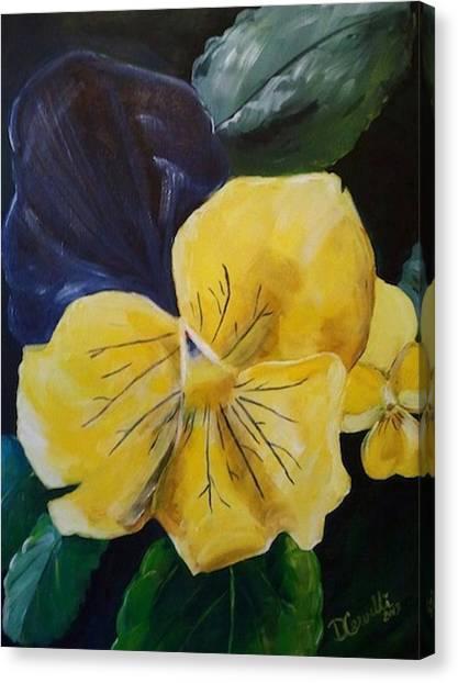 Yellow Pansy Canvas Print