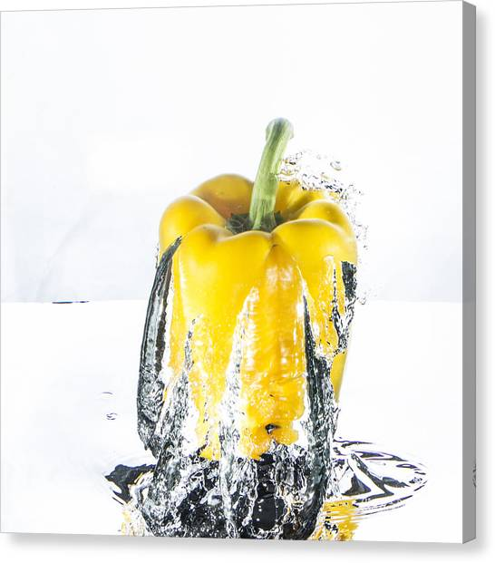 Yellow Pepper Rocket Canvas Print