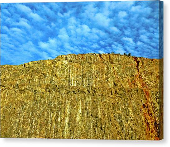 Yellow Rock Canvas Print