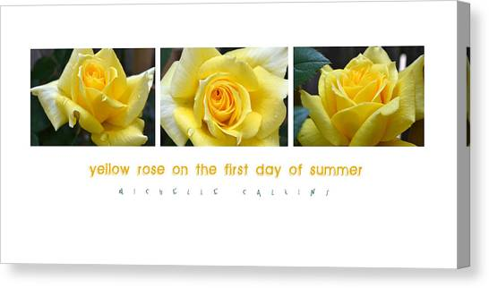 Yellow Rose On The First Day Of Summer Canvas Print