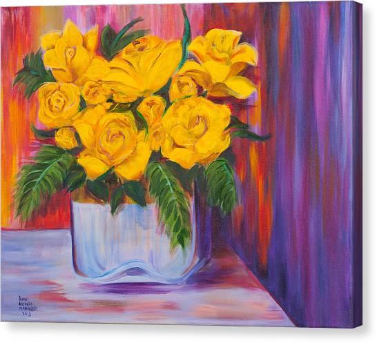 Yellow Roses Canvas Print by Dani Altieri Marinucci