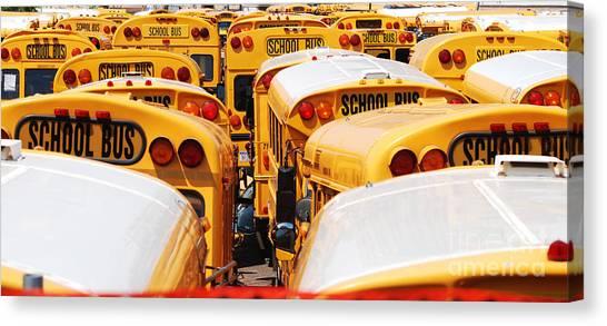 Yellow School Bus Canvas Print