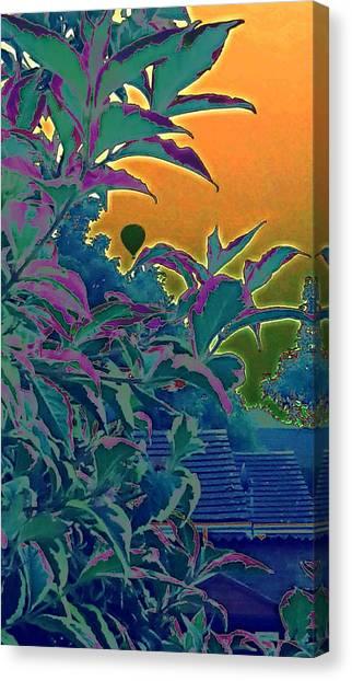 Hot Air Balloons Canvas Print - Yellow Sky Garden Hotair Balloon by Candy Floss Happy