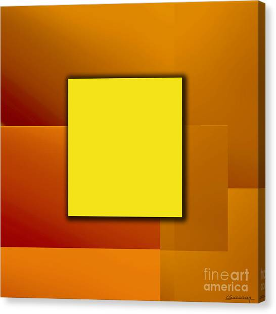 Yellow Square Canvas Print by Christian Simonian