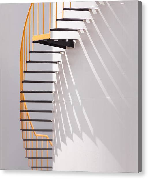 Tanks Canvas Print - Yellow Staircase by Jacqueline Hammer