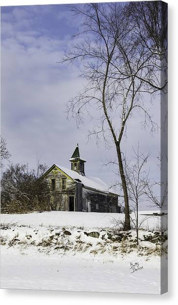 Yellow Trimmed Barn Canvas Print