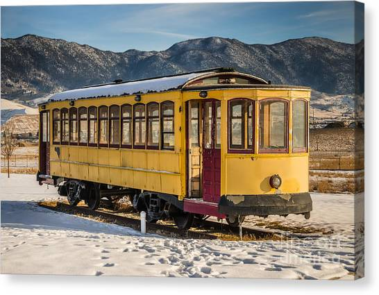 Yellow Trolley Canvas Print