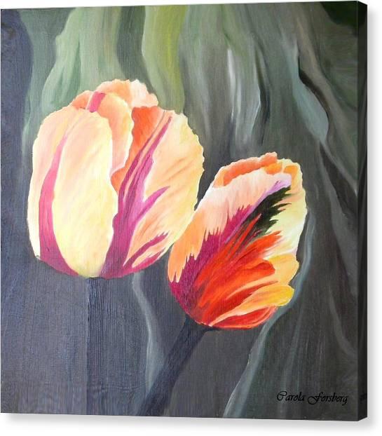 Yellow Tulips Canvas Print by Carola Ann-Margret Forsberg