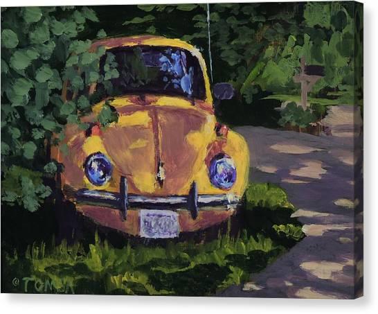 Yellow Vee Dub Canvas Print