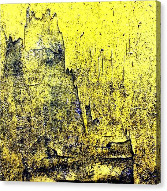 Streets Canvas Print - Yellow Wall 2 by Jason Michael Roust