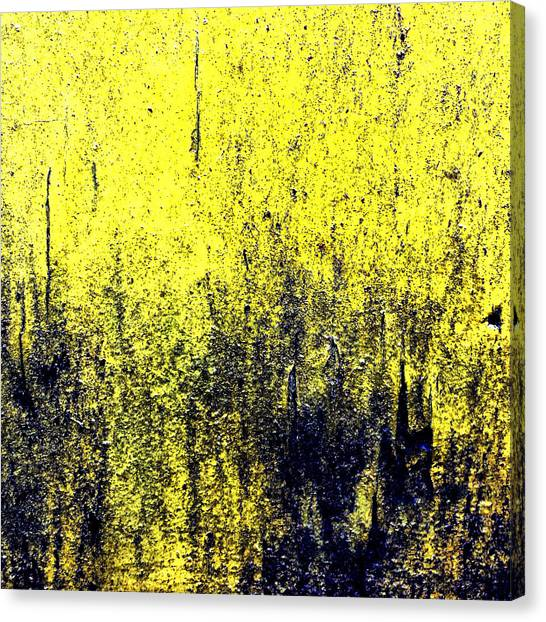 Streets Canvas Print - Yellow Wall by Jason Michael Roust