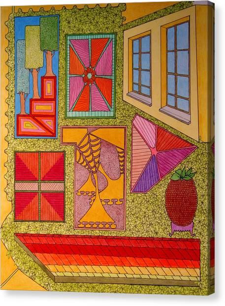 Yellow Window Canvas Print