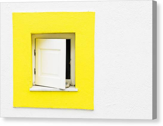Window Canvas Print - Yellow Window by Tom Gowanlock