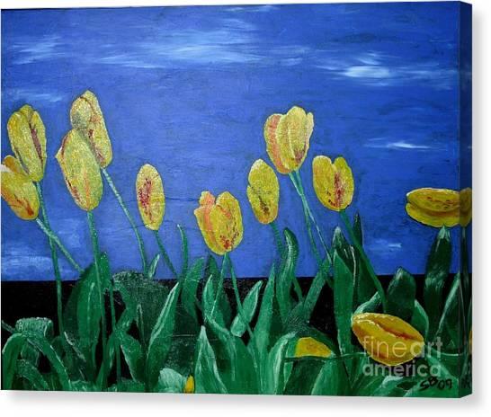 Yellowred Tulips Canvas Print