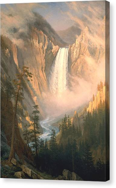 Yellowstone National Park Canvas Print - Yellowstone by Albert Bierstadt