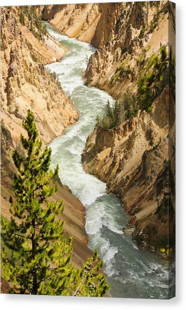 Geology Canvas Print - Yellowstone Canyon by Jeffrey Banke