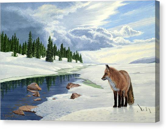 Yellowstone Canvas Print - Yellowstone Fox by Paul Krapf