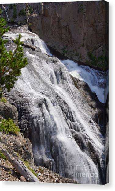 Yellowstone Gibbon Falls Canvas Print